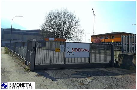 Simonetta Costruzioni Siderval stabilimento Talamona